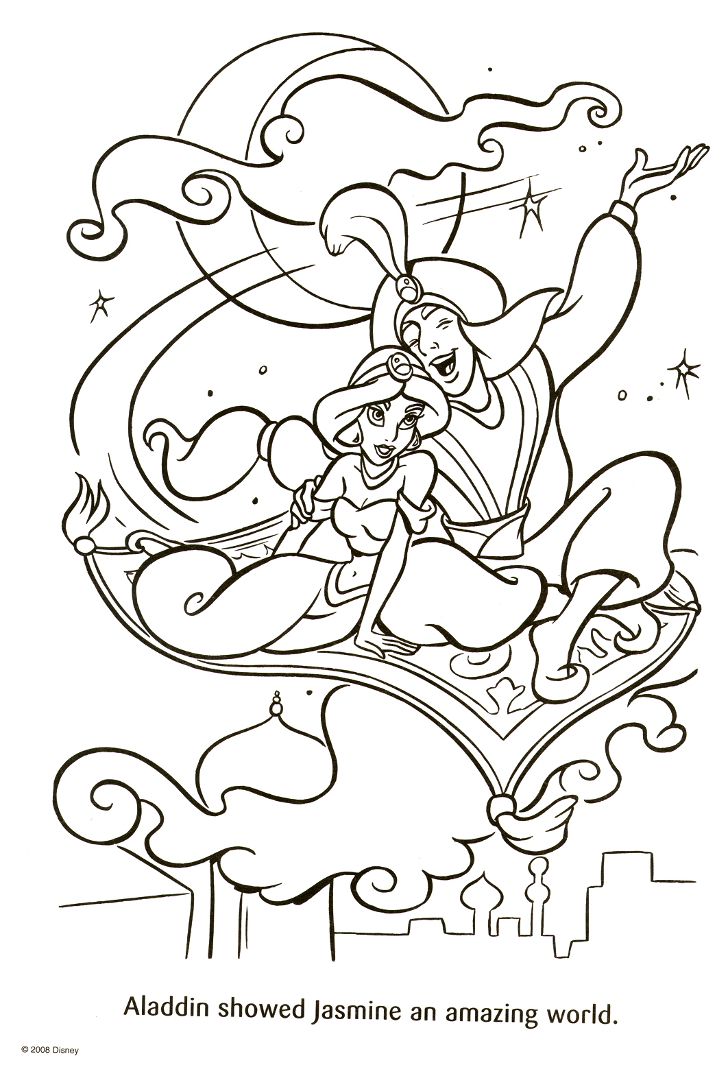 Disney Coloring Pages Aladdin At Getdrawings Com Free For