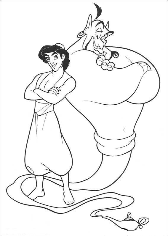 Kleurplaten Aladdin En Jasmine.Disney Coloring Pages Aladdin At Getdrawings Com Free For Personal