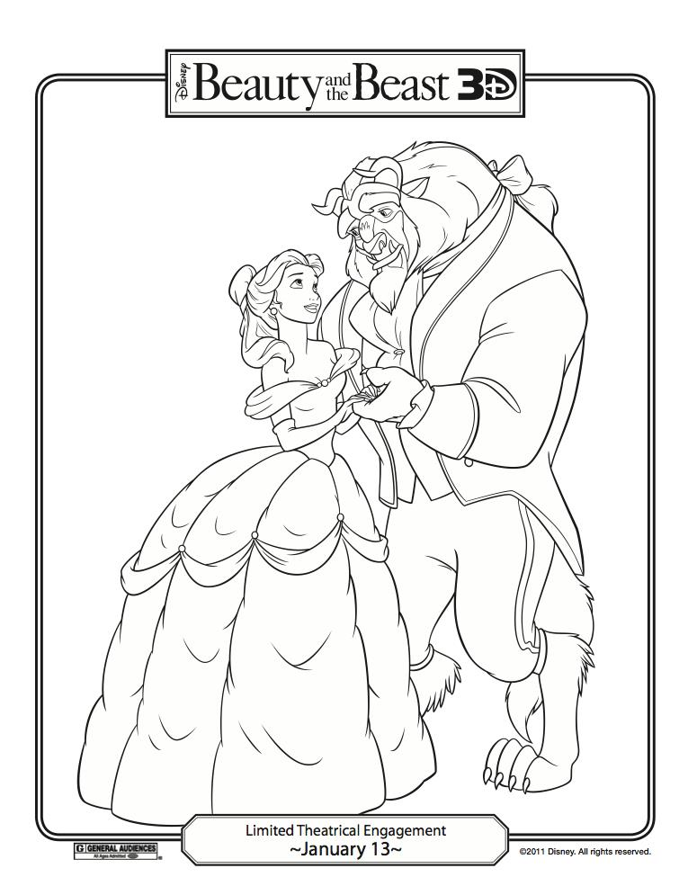 Disney Coloring Pages Beauty And The Beast