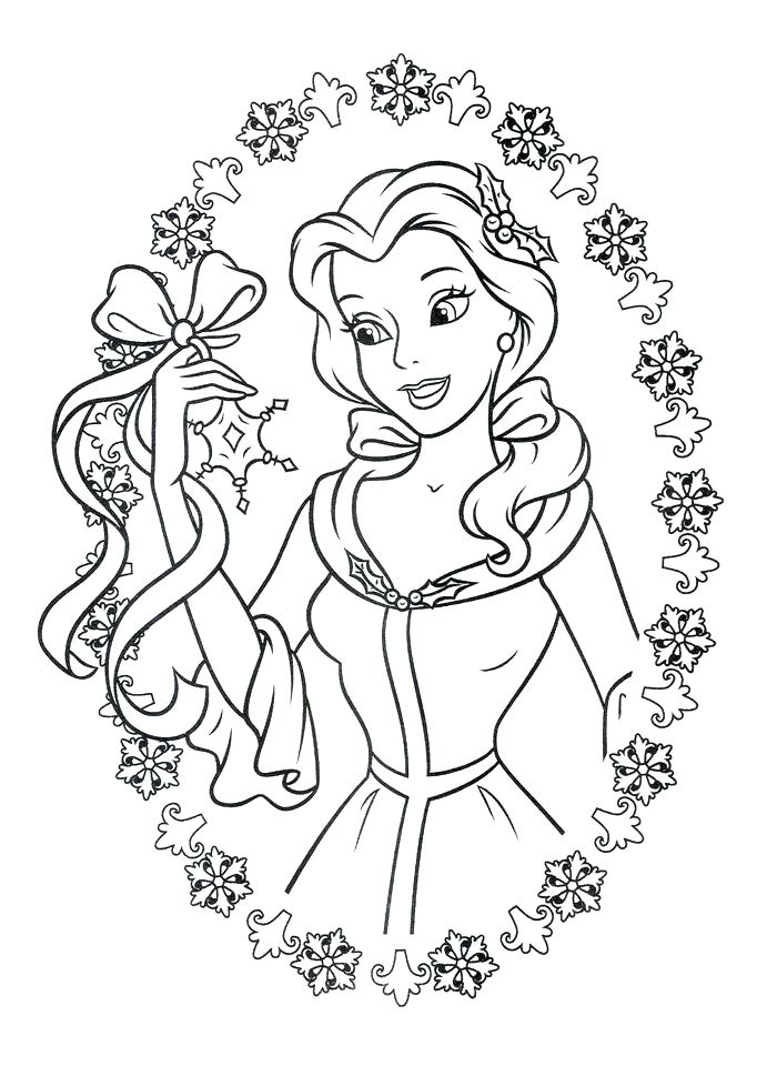 Disney Coloring Pages Belle