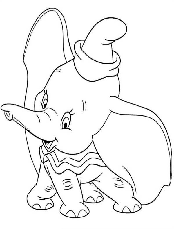 600x788 Disney Dumbo The Elephant Coloring Pages Bulk Color