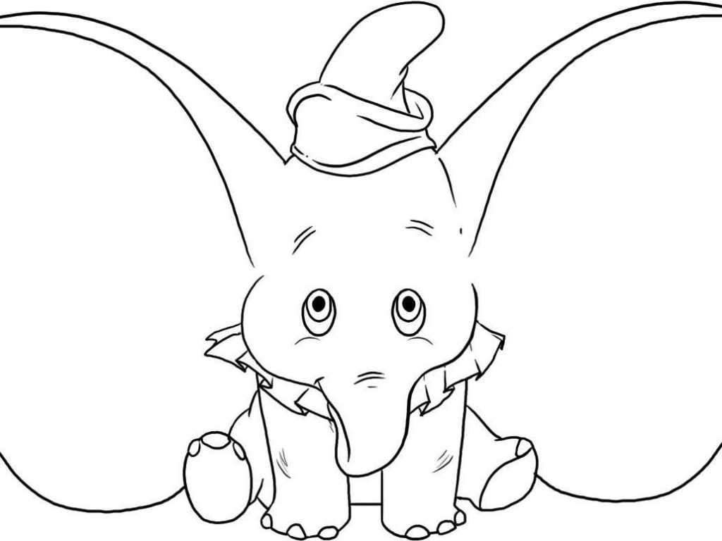1024x768 Dumbo Coloring Pages Printable Cartoon Pictures To Color General