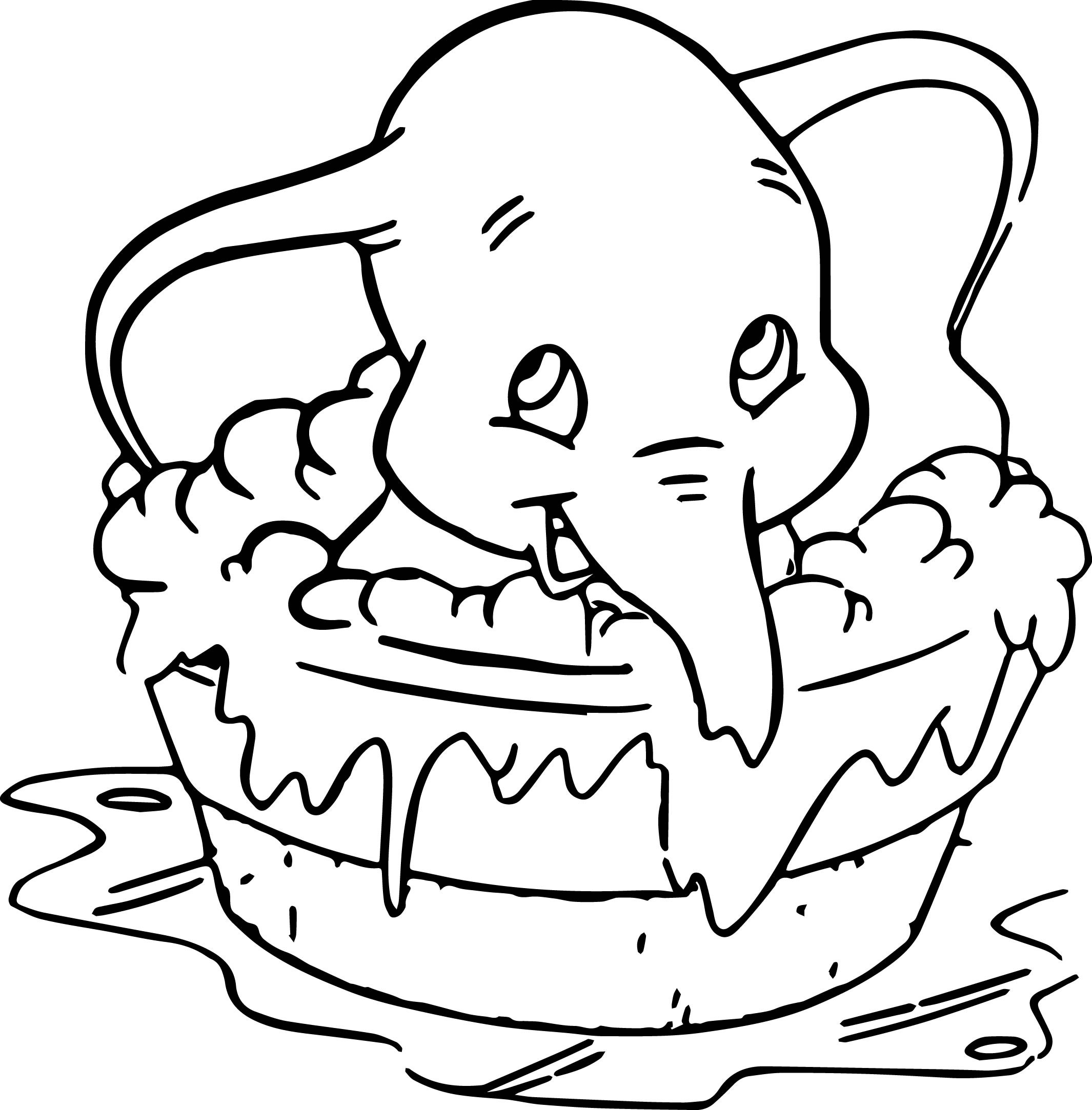 2130x2166 Dumbo Disney Coloring Page Pages Throughout