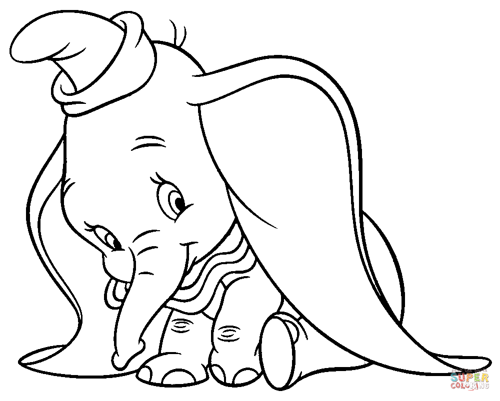 1000x803 Dumbo Coloring Pages Free Coloring Pages Dumbo Coloring Pages