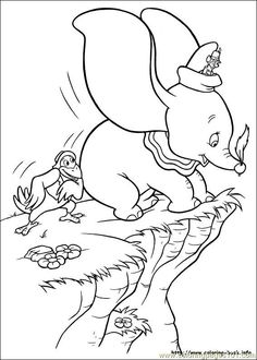 236x330 Coloring Pages Disney Characters Dumbo And Mrs Jumbo