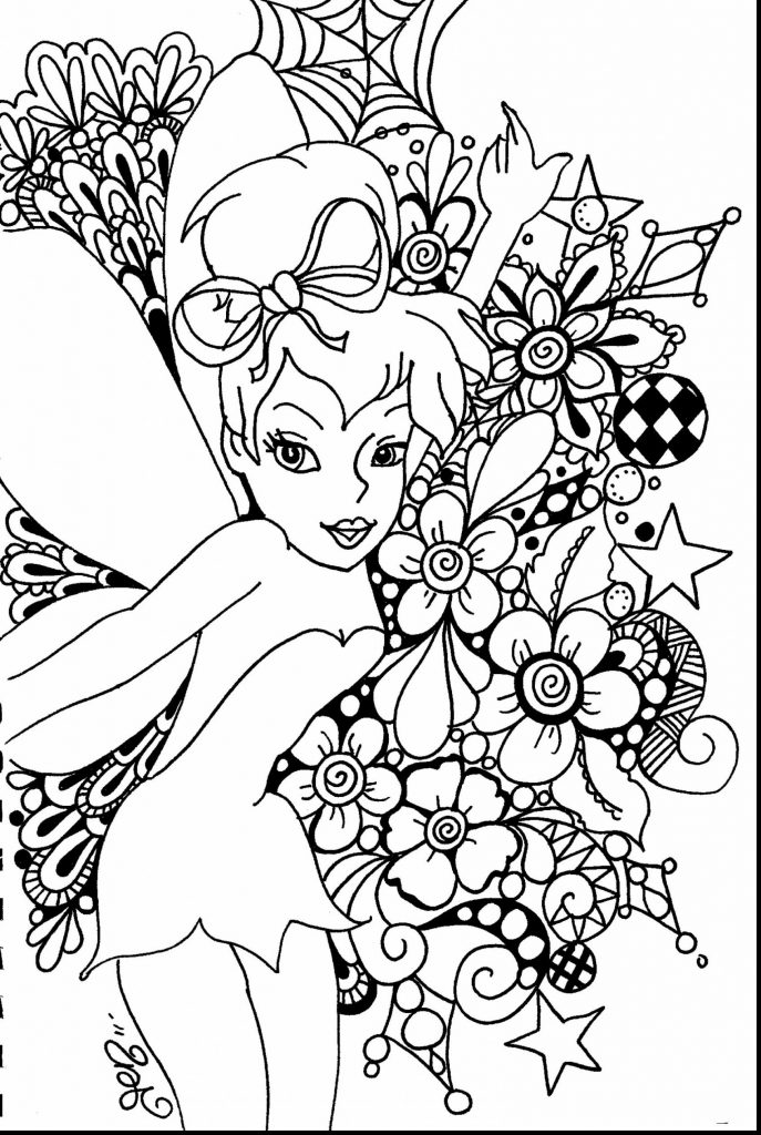 687x1024 Coloring Pages Adults Disney
