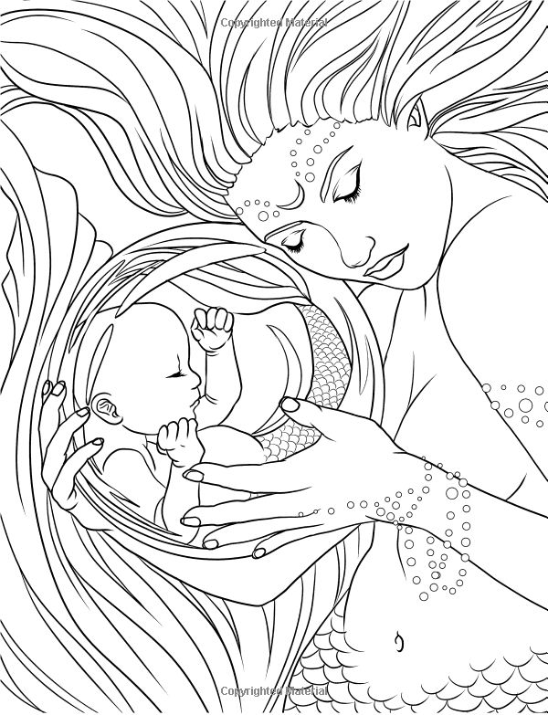 600x783 Sensational Inspiration Ideas Mermaid Coloring Pages For Adults