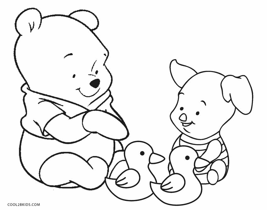 850x668 Baby Winnie The Pooh And Friends Coloring Pages