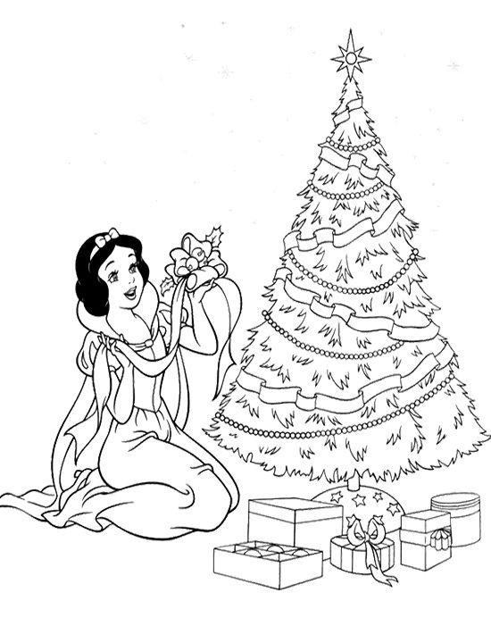 550x692 Free Printable Disney Princess Christmas Coloring Pages Coloring