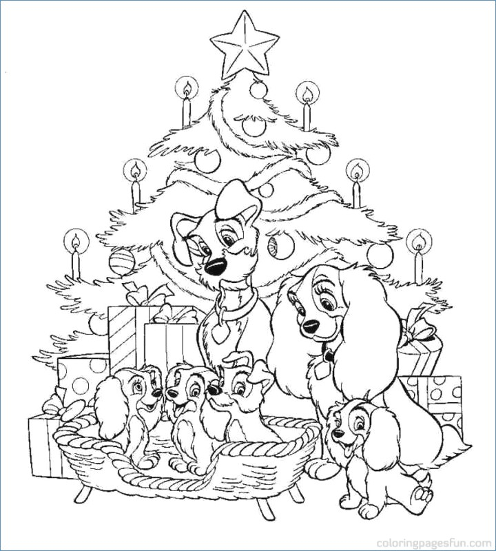 720x800 Kindergarten Christmas Tree Coloring Pages
