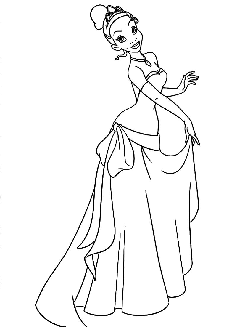 801x1104 Tiana And Naveen Coloring Pages Tiana Is The Girl Who Loved