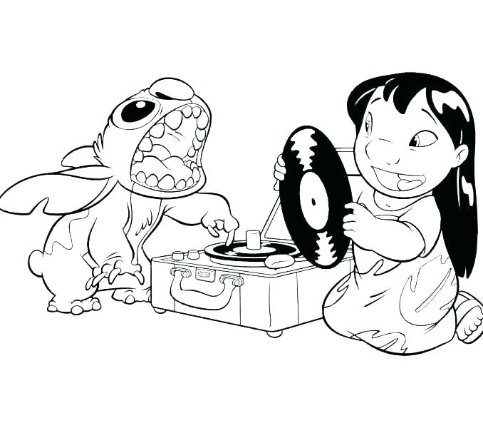 678x600 Elvis Stitch Coloring Pages Stitch Coloring Pages Lilo And Stitch