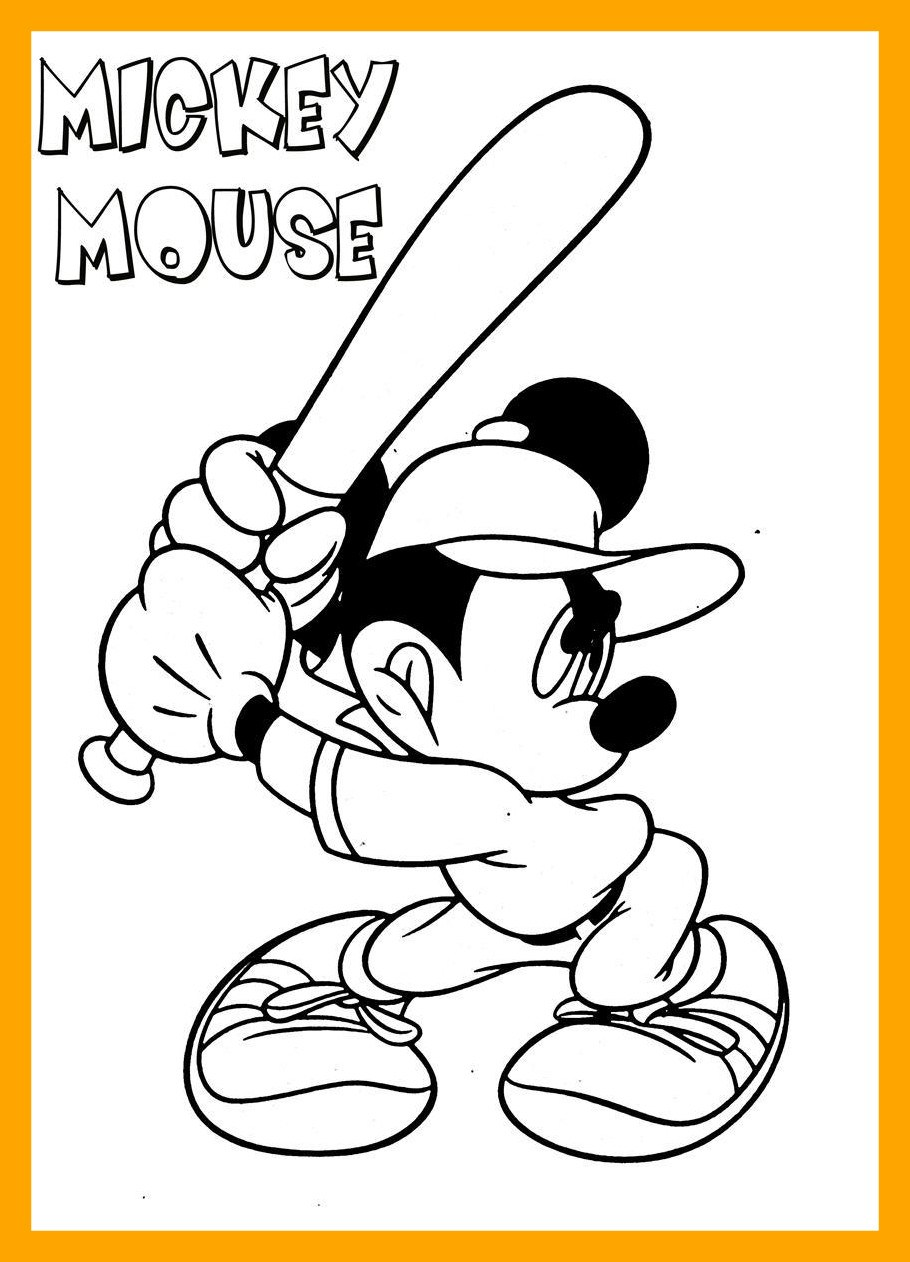910x1262 Marvelous Mickey Mouse Coloring Page Of Disney And Friends