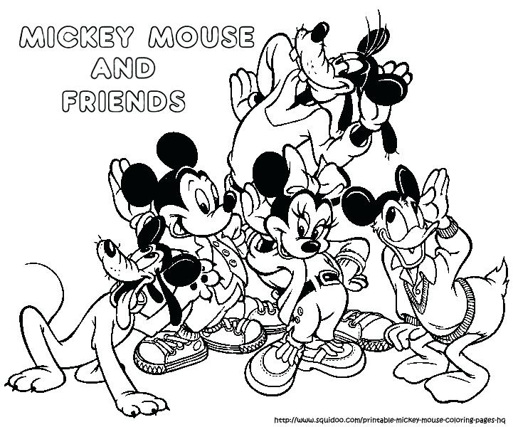 721x600 Mickey Mouse Coloring Page Mickey And Friends In Winter Free