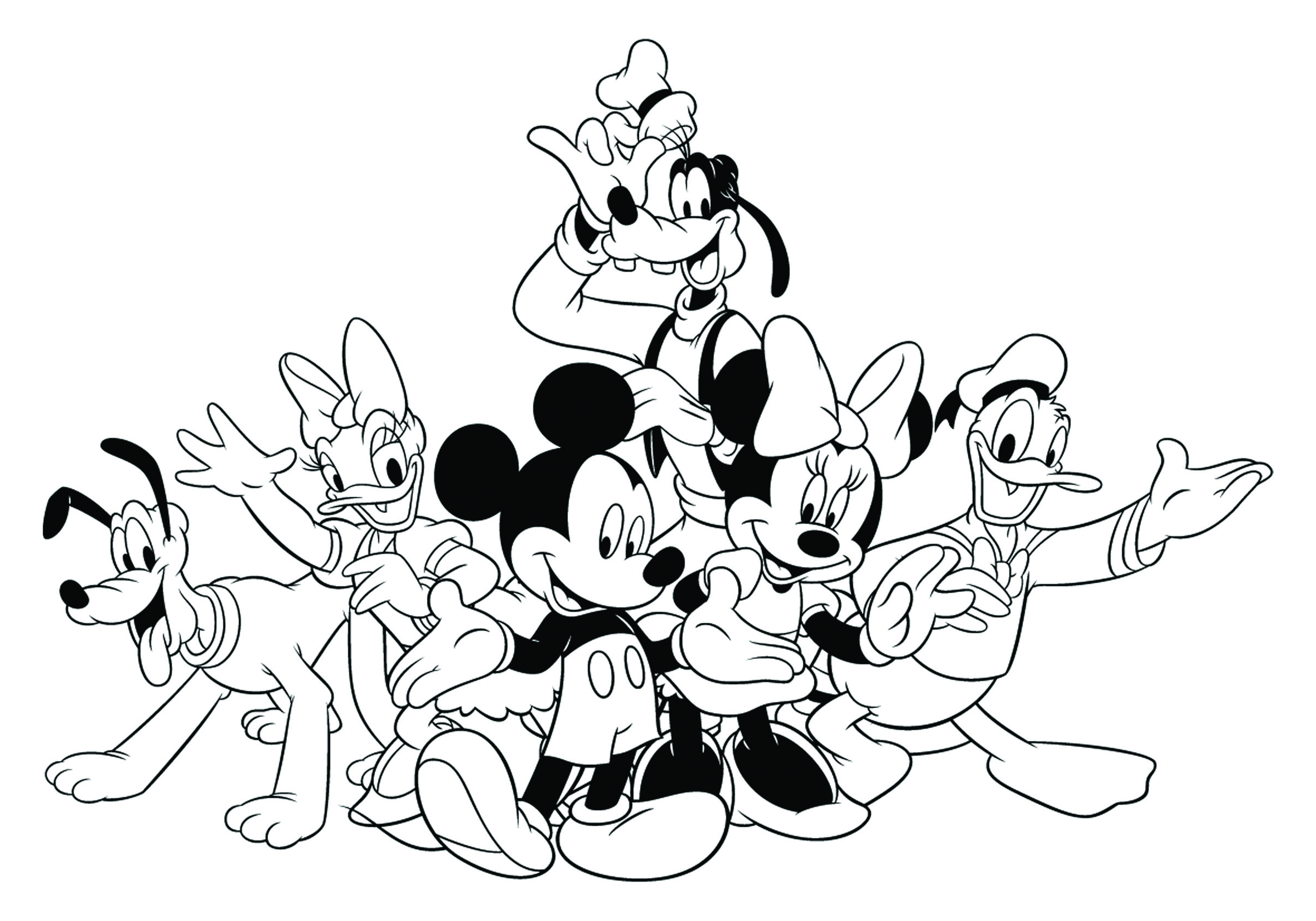 Disney Coloring Pages Mickey Mouse And Friends At Getdrawings