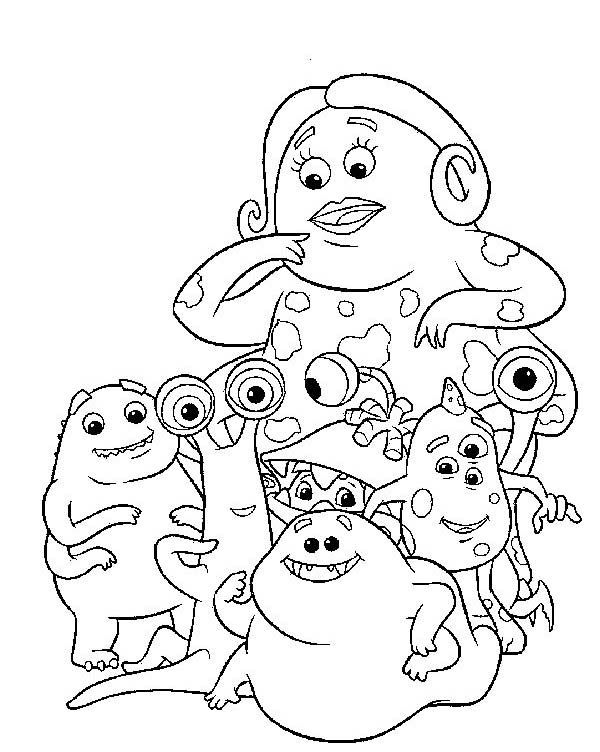 Disney Coloring Pages Monsters Inc