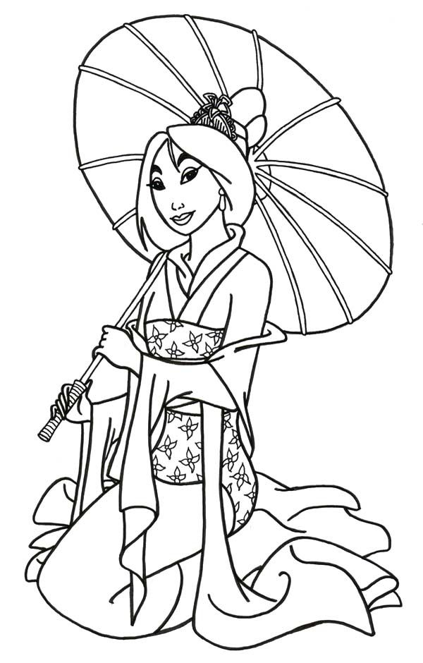 Disney Coloring Pages Mulan
