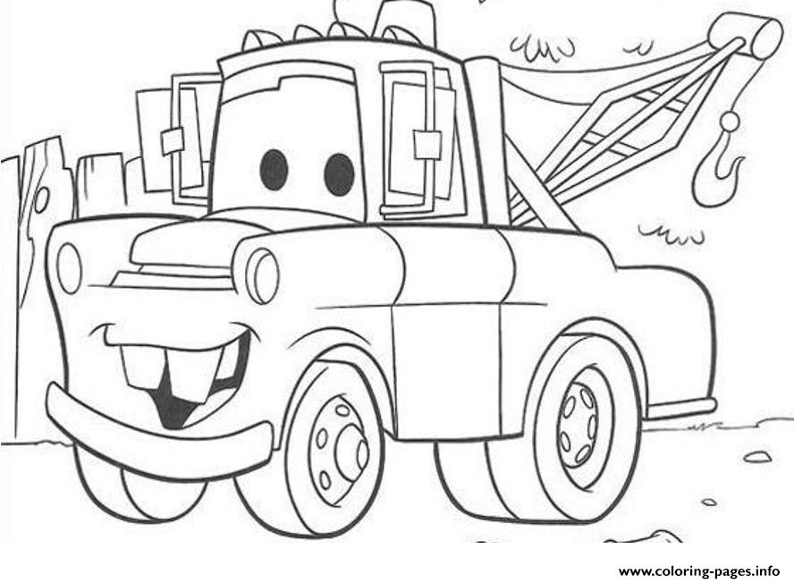888x652 Disney Cars Mater Coloring Pages Printable