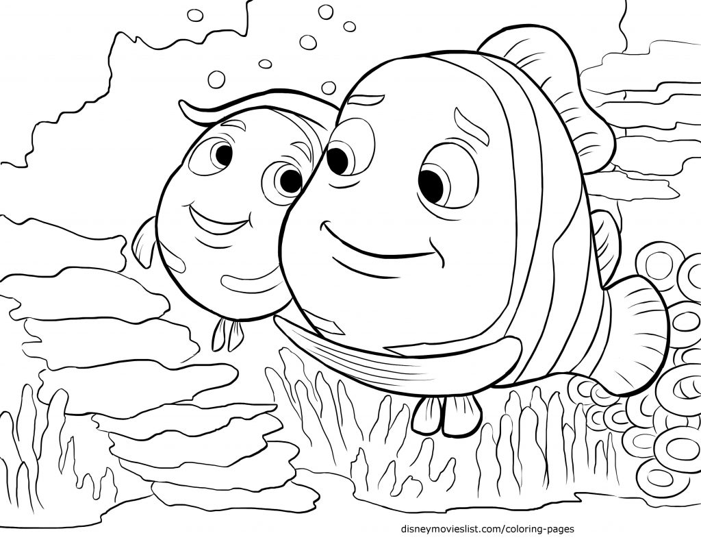 1024x791 Finding Nemo Coloring Pages Pdf
