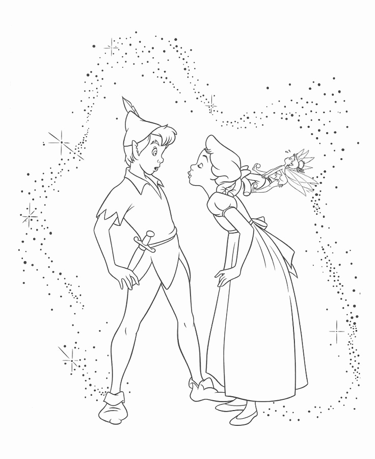Disney Coloring Pages Peter Pan at GetDrawings.com | Free for ...