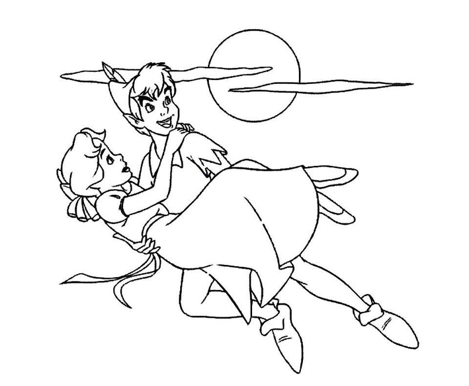 Disney Coloring Pages Peter Pan At Getdrawings Free Download