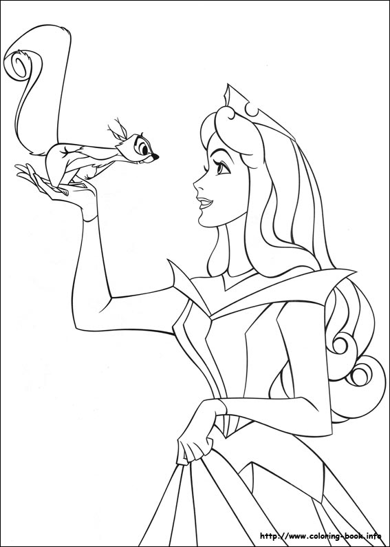 567x794 Sleeping Beauty Coloring Picture