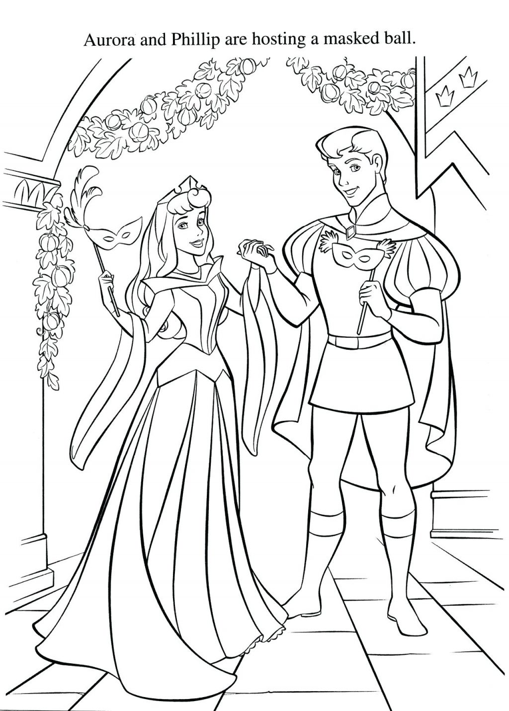 1024x1431 Coloring Pages Sleeping Beauty Coloring Page So Disney Pages