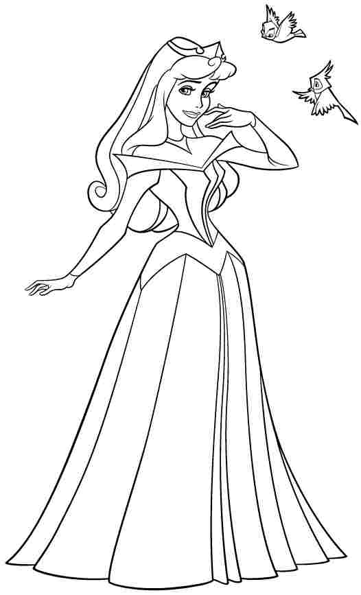 526x867 Disney Princess Sleeping Beauty Aurora Colouring Pages Free