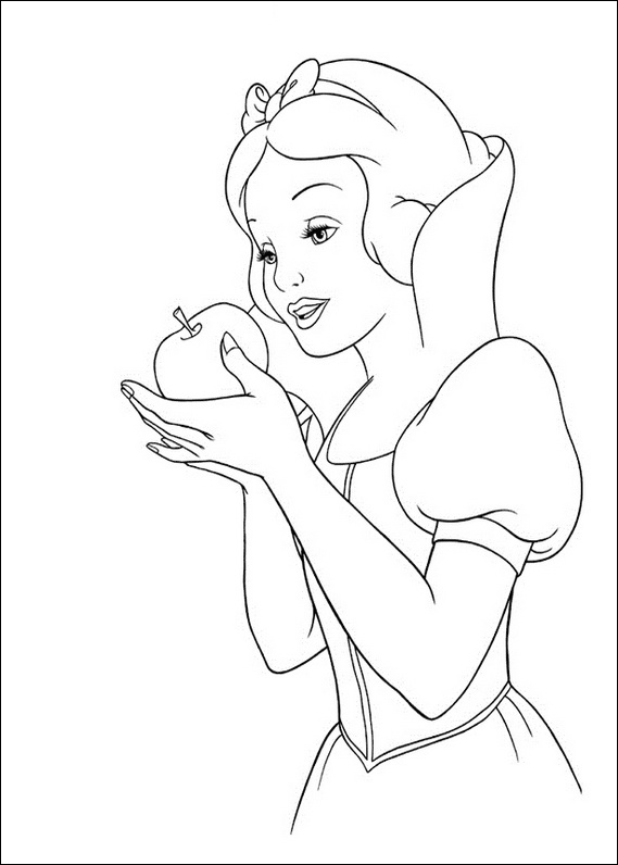 569x796 Snow White Apple Coloring Page