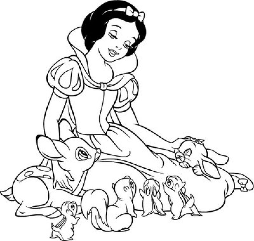 1024x972 Snow White Coloring Pages