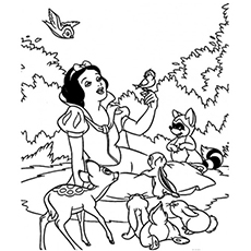 230x230 Top Free Printable Snow White Coloring Pages Online