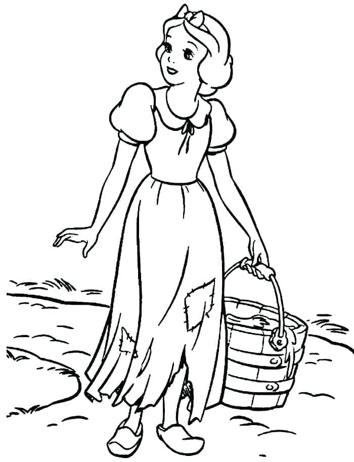 700x914 Disney Princess Coloring Pages Snow White Professional