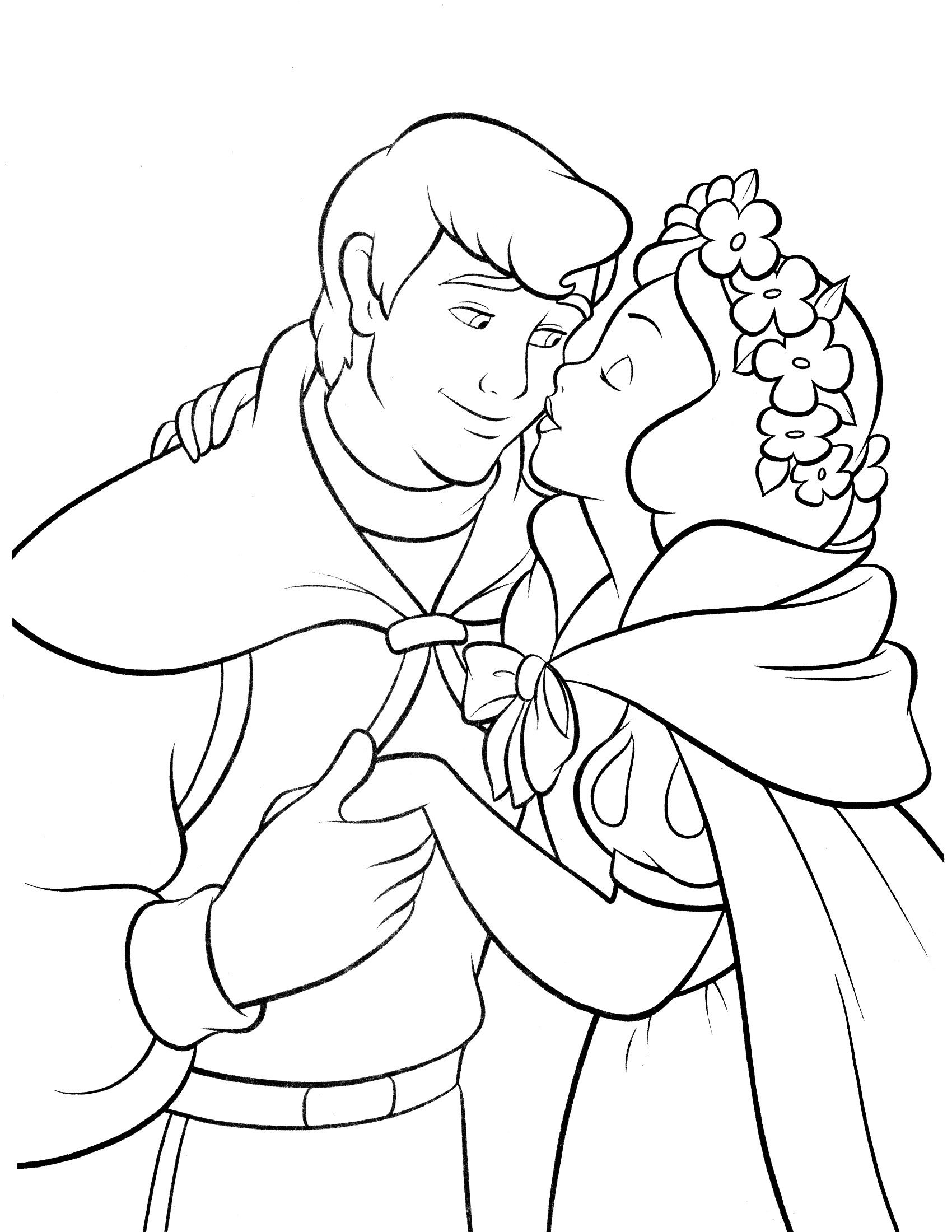 1700x2200 Beautiful Coloring Book Snow White