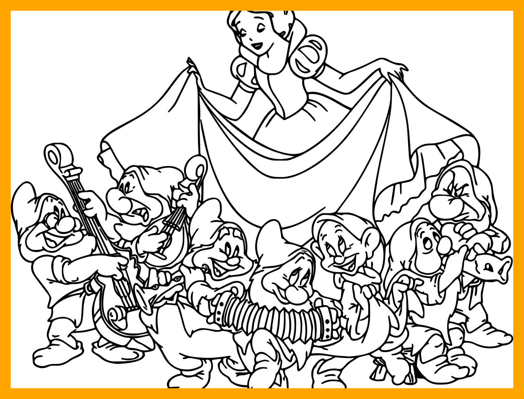 1668x1268 Best Snow White Coloring Page Printable Of Cartoons Seven Disney
