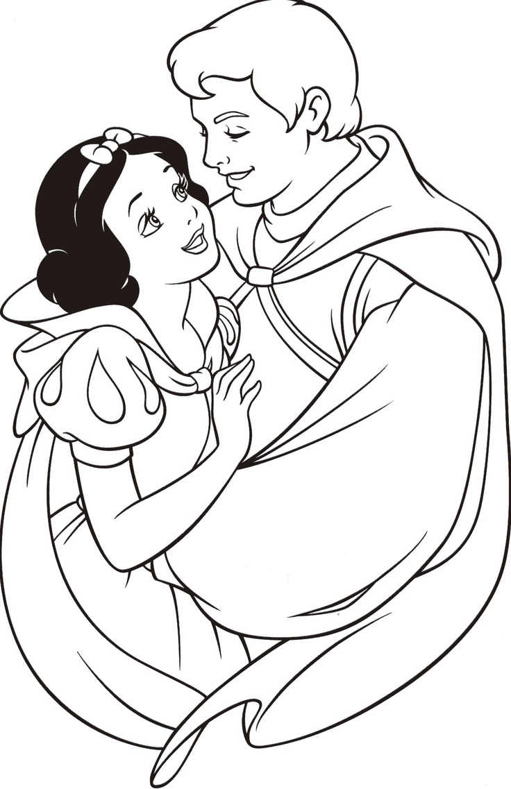 736x1137 Disney Princess Snow White Coloring Pages Snow White And The Seven