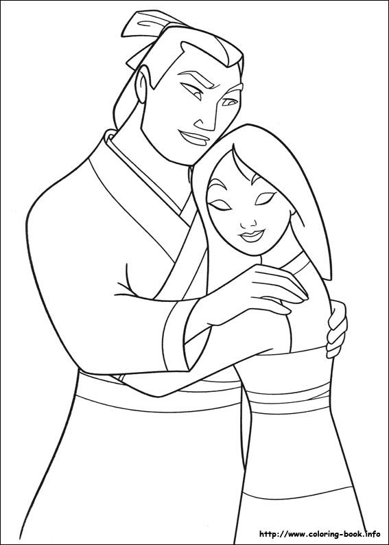 567x794 Mulan Coloring Picture Coloring Sheets Disney