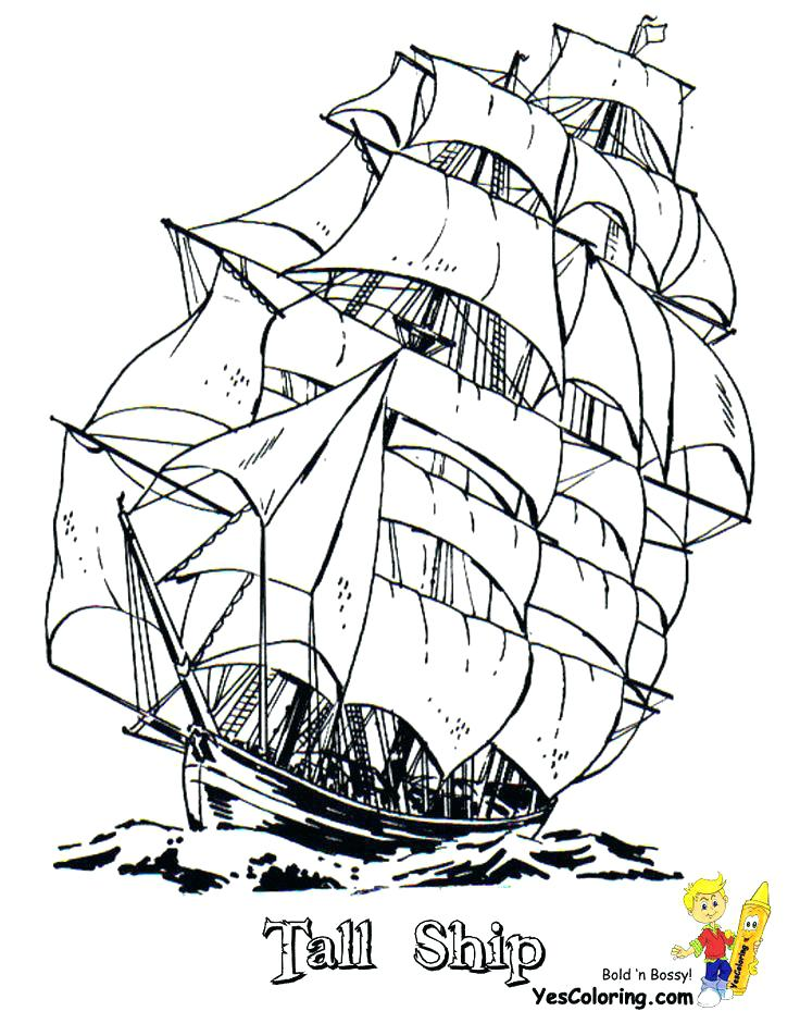 736x952 Cruise Ship Coloring Pages Ship Coloring Pages Full Sail Tall Ship