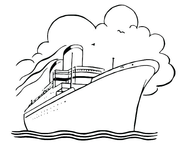 600x491 Cruise Ship Coloring Sheet Page Pages How To Draw Colori