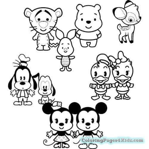 500x500 Disney Cuties Coloring Pages Stitch Coloring Pages For Kids