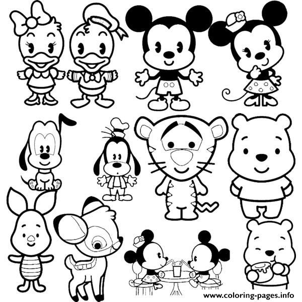 600x600 Disney Cuties Tsum Tsum Coloring Pages Printable