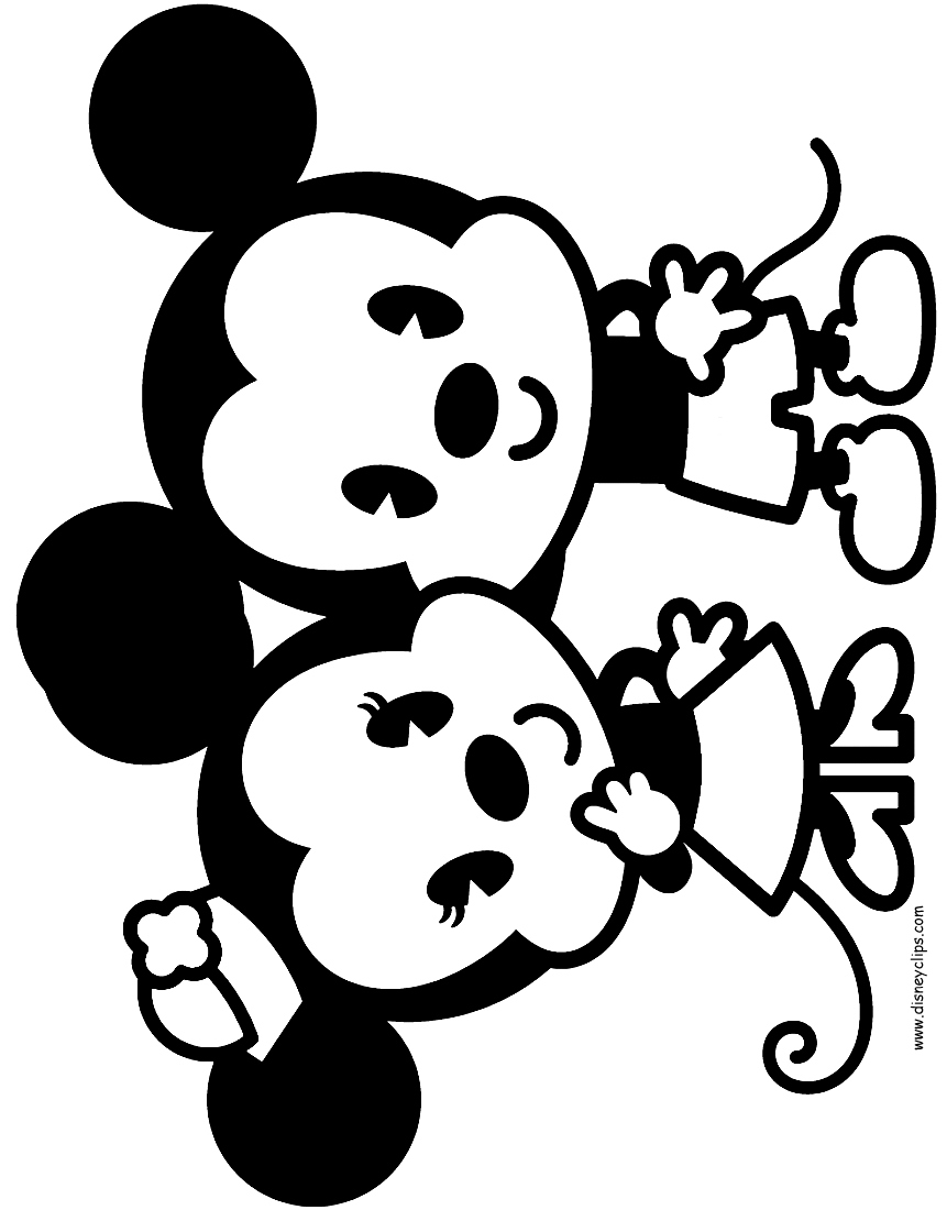861x1100 Mickey And Minnie Coloring Pages Lovely Disney Cuties Coloring