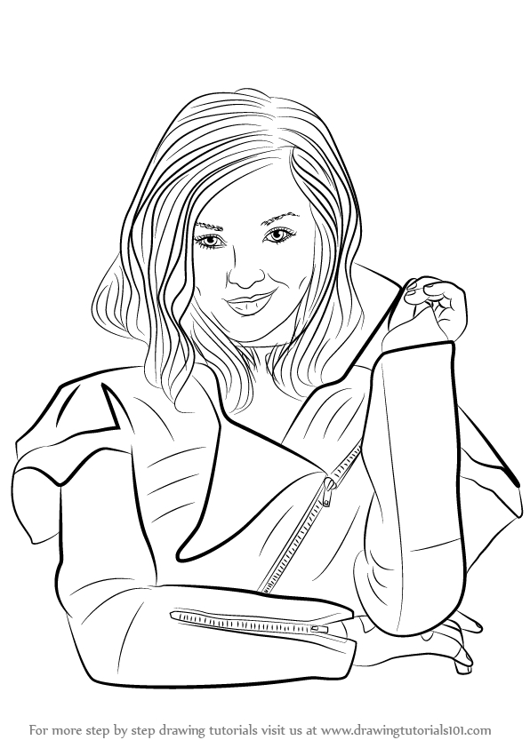 596x842 Disney Descendants Mal Coloring Pages Learn How To Draw Mal