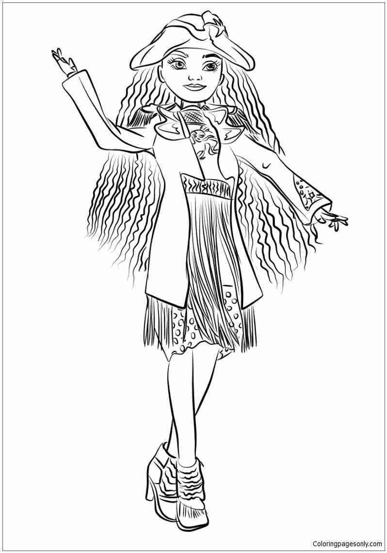 798x1139 Coloring Pages For Descendants Copy Uma From Inside Noticeable Mal
