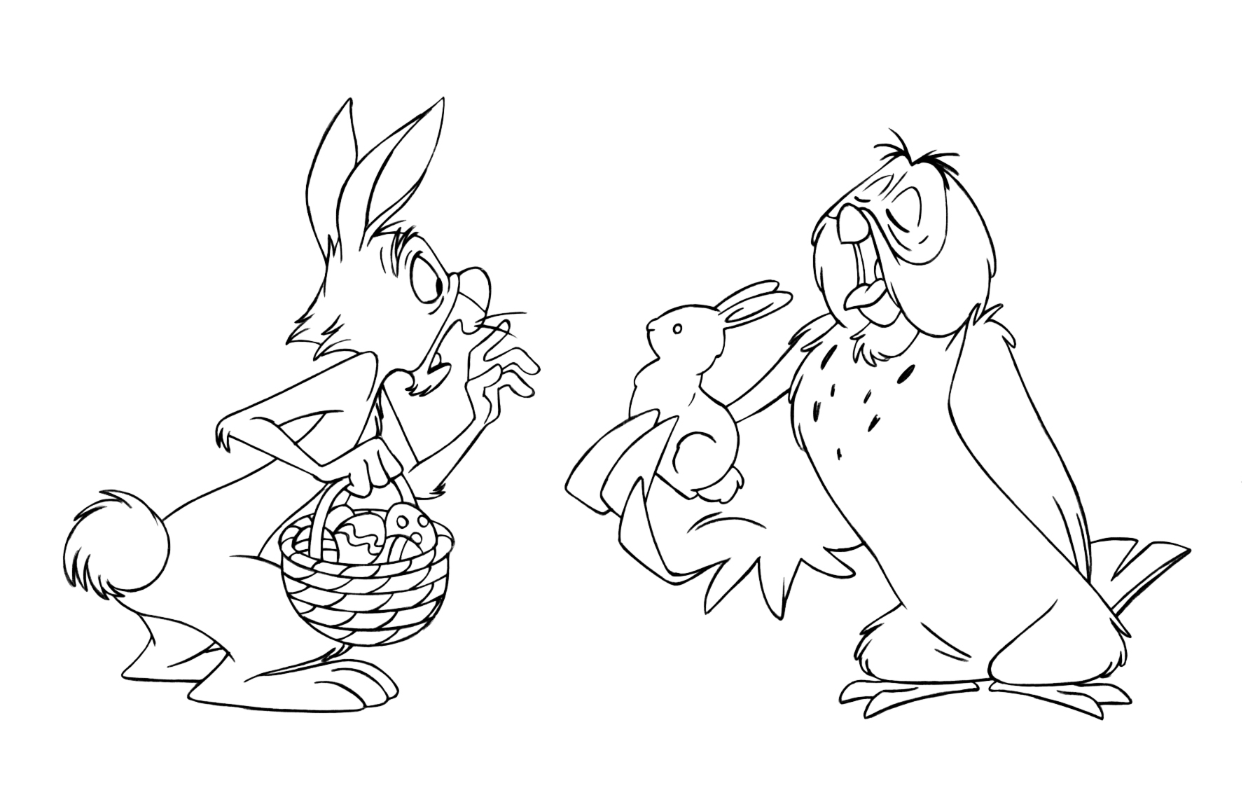 Disney Easter Coloring Pages At Getdrawingscom Free For Personal