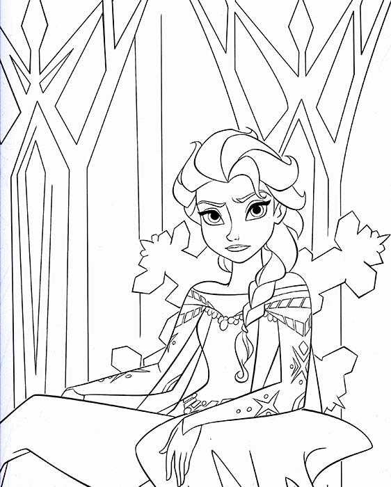 Disney Elsa Coloring Pages
