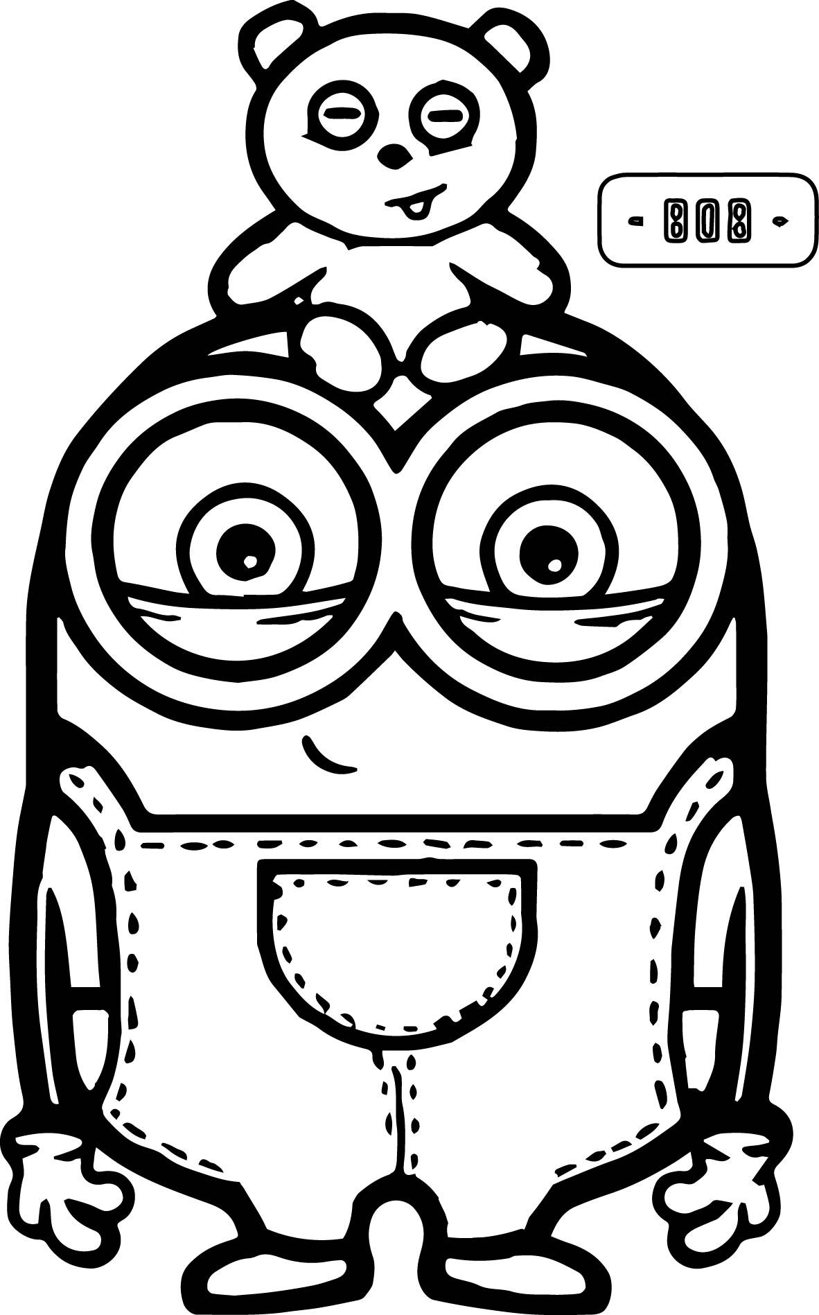 1182x1897 New Cute Bob And Bear Minions Coloring Page