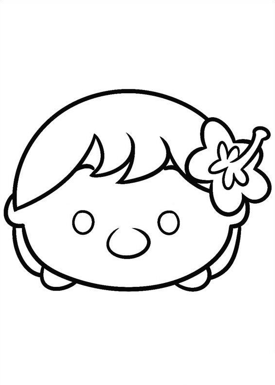 565x792 Coloring Pages Of Tsum Tsum On Kids N On Kids N Fun