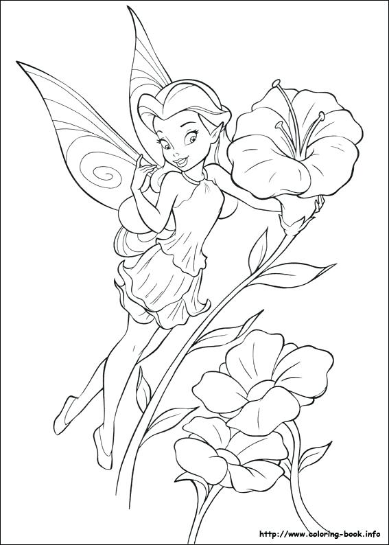 567x794 Friend Tinker Bell Coloring Page Sewing Embroidery Free Coloring