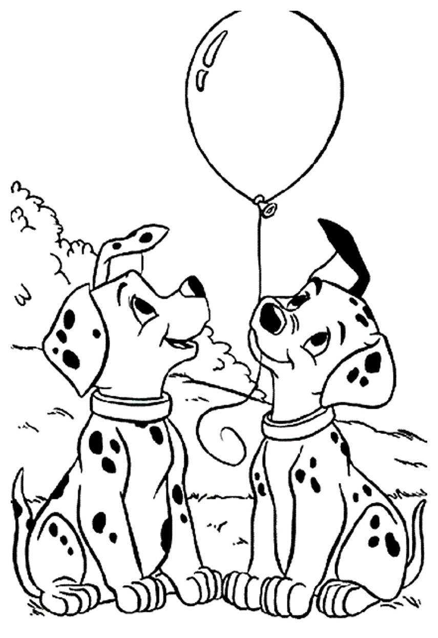 855x1246 Largest Dalmation Coloring Page Dalmatians Disney Family