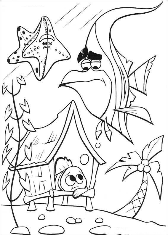 567x794 Disney Finding Nemo Coloring Pages For Free Crafts